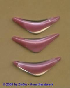 Strassstein, 1 Stück, 28mm x 10mm, (altrosa/kristall)