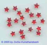 1 Strass/Sternchenform Ø 5mm (rubin)