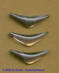 Strassstein, 1 Stück, 28mm x 10mm, (lila/kristall)