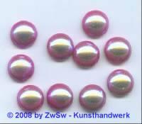 Muggel-Stein 1 Stück, Ø 12,5mm sattrot/AB