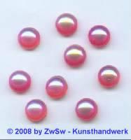 Muggelstein 1 Stück, (erdbeer/AB),  Ø 9mm