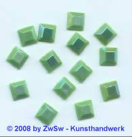 Strassstein 1 Stück, (hellgrün/AB),  8mm x 8mm