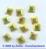 Strassstein 1 Stück, (gelb/AB),  8mm x 8mm
