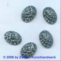 Strassstein 1 Stück, (hematite/AB),  18mm x 13mm