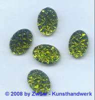 Strassstein 1 Stück, (oliv),  18mm x 13mm