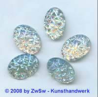 Strassstein 1 Stück, (kristall/AB),  18mm x 13mm