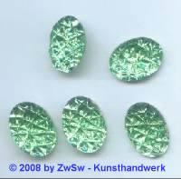Strassstein 1 Stück, (hellgrün),  10mm x 8mm
