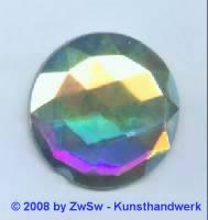 Strassstein 1 Stück, (kristall/AB),  Ø 36mm