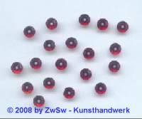 Strassstein 1 Stück, (rubin),  Ø 5mm