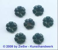 Strassstein 1 Stück, (schwarz),  Ø 11mm