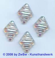 Strassstein 1 Stück, (kristall/AB),  22mm x 18mm