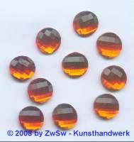 Strassstein, 1 Stück, Ø 12mm (orange)