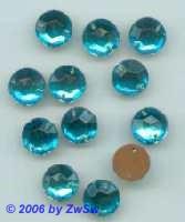 Strassstein 1 Stück, Ø 15mm  (aquamarin)