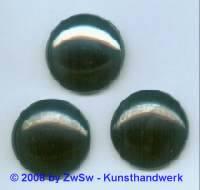 1 Muggelstein, Ø 30mm, schwarz/AB