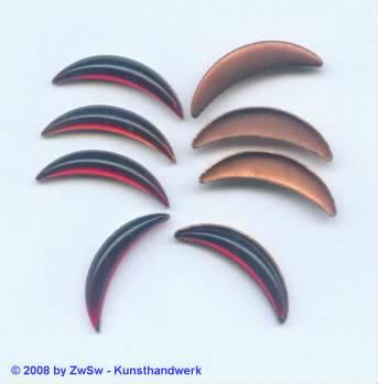 Gebogener Stein rubin 1 Stück 20mm
