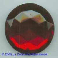 Solitärstein 1 Stück, Ø 36mm  (rubin)
