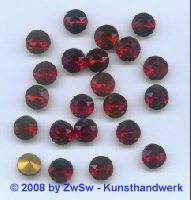 Schmuckstein, 11mm rot, 1 Stück