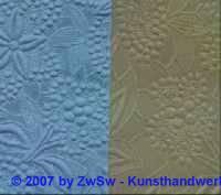 1 Handgefertigtes Papier blau geprägt