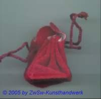 Samtbeutel in rot