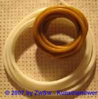 Wachsschnur elfenbein, Ø 5mm