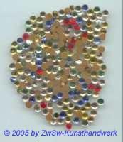 Strasssteine 100 Stck. bunt, Ø 5mm
