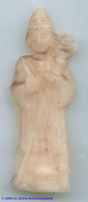 Medaillion: Hl. Wolfgang; ca. 7cm x 2,5cm