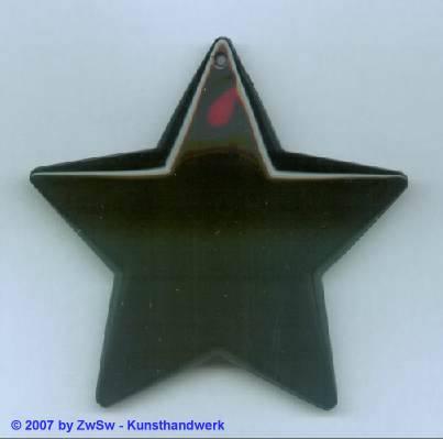 1 Sternanhänger schwarz, ca. Ø 75mm