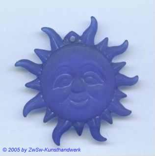 Eis-Sonne, blau, ca. Ø 43mm