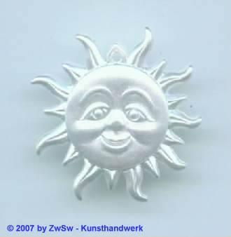 1 Sonne in wachsweiß, ca. Ø 28mm