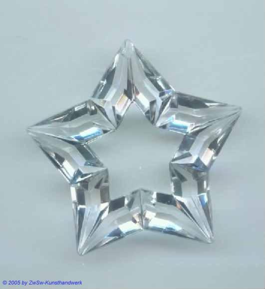 Durchbrochener Stern aus Acrylglas, ca. Ø 50mm