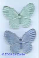 1 Schmetterling aus Acrylglas hellblau, 80mm x 60mm