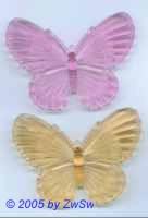 1 Schmetterling aus Acrylglas pink, 80mm x 60mm