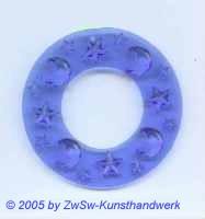 Sternenring aus Acrylglas in blau, ca. Ø 50mm