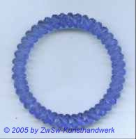 Acrylglasring, ca. Ø 65mm, blau