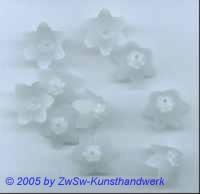 Glockenblumen kristall gefrostet, 5 Stück, Ø 10mm