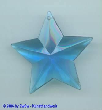 1 Stern petrol aus Acrylglas, ca. Ø 45mm
