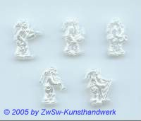 Wichtel aus Acryl in wachsweiss, Geiger, 5 Stück