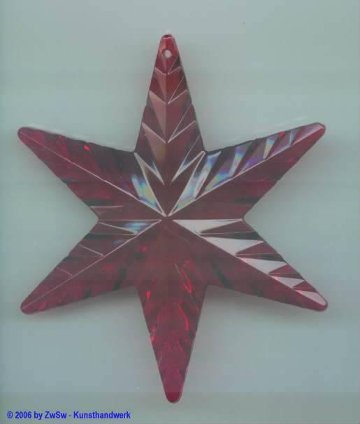 Stern aus Acryl in rubin, ca. Ø 90mm