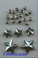 Zierniete Stern 9mm platin, 1 Stück