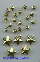 Zierniete, Sternchen gold, 16mm, 1 Stück