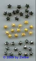 Zierniete, Sterne schwarz 9 mm, 1 Stück
