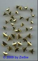Zierniete gold, dreieck, Ø 14mm, 1 Stück